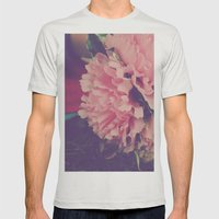 fresh pink Mens Fitted Tee Silver SMALL