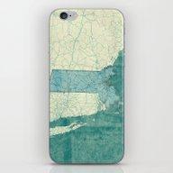 Massachusetts Map Blue V… iPhone & iPod Skin