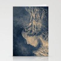 Dark Portrait II  (colou… Stationery Cards