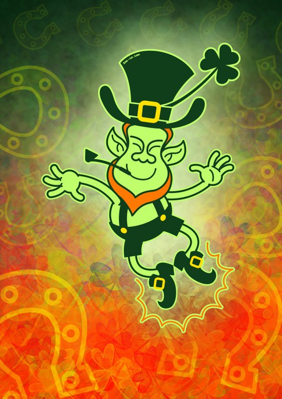 Leprechaun Clapping Feet Art Print