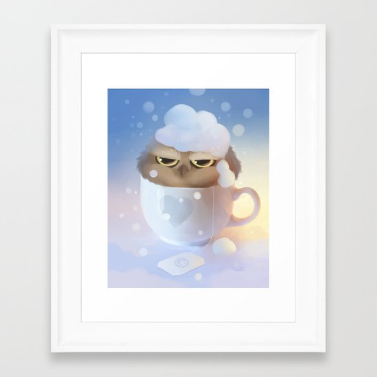 cup of owl Framed Art Print