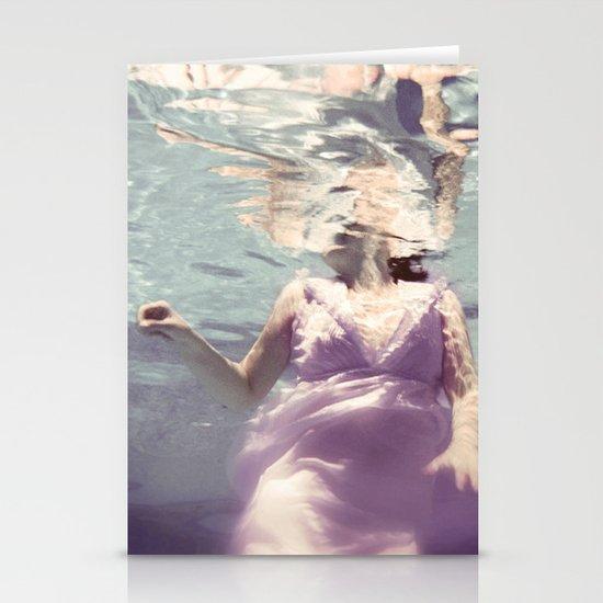Dive in Violet Stationery Card