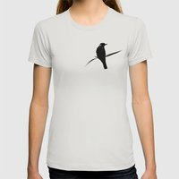 Watching Womens Fitted Tee Silver SMALL