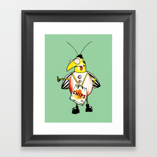 There Is A Bug Fion Framed Art Print By Nuam Society6