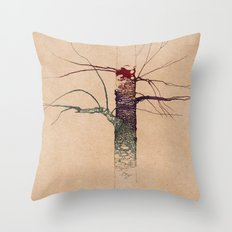 Sweet Birch (color variation) Throw Pillow