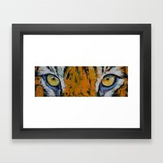 Tiger Eyes Framed Art Print