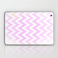 Pale Pink Textured Chevr… Laptop & iPad Skin