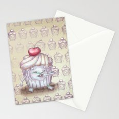 There is a Monster in my cupcake Stationery Cards