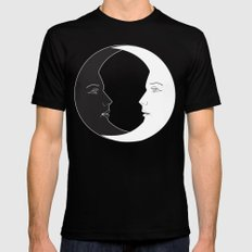 ying yang luna SMALL Black Mens Fitted Tee