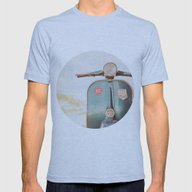 The Blue Vespa Mens Fitted Tee Athletic Blue SMALL