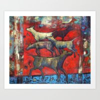 Street Dogs. Art Print