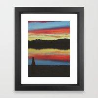 Colorado Skies And Drink… Framed Art Print