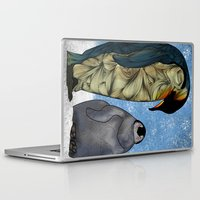 baby Laptop & iPad Skins featuring Emperor Penguins by Ben Geiger