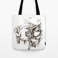 Anatomy: Study 1 Salivating Zombie Tote Bag