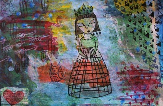 Birdcage Lady Canvas Print