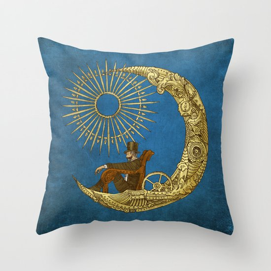Moon Travel (Colour Option) Throw Pillow