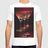 Red Hot Martinis. Mens Fitted Tee White SMALL