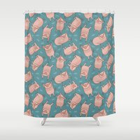 Pattern Project #52 / Piglets Shower Curtain