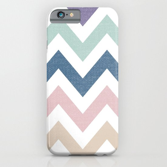 MUTED CHEVRON {COOL TONES} iPhone & iPod Case
