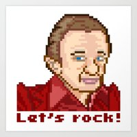 Let's rock! (Man From Another Place Pixel Art)  Art Print