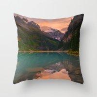 Autumn in Lake Louise Throw Pillow