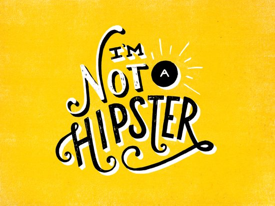 I'm Not a Hipster Canvas Print