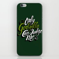 Only God(zilla) Can Judg… iPhone & iPod Skin