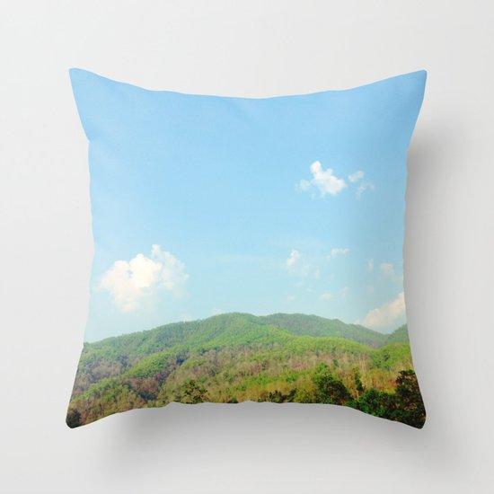 Aero Blue Sky Throw Pillow