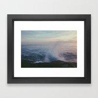 splashed. Framed Art Print