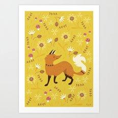 Cute as a Fox Art Print