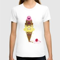 Cherry Dead Womens Fitted Tee White SMALL
