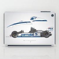 Outline Series N.º6, Nelson Piquet, Brabham BT-52 BMW, 1983 iPad Case