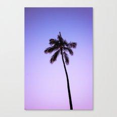Palm Tree Ver.violet Canvas Print