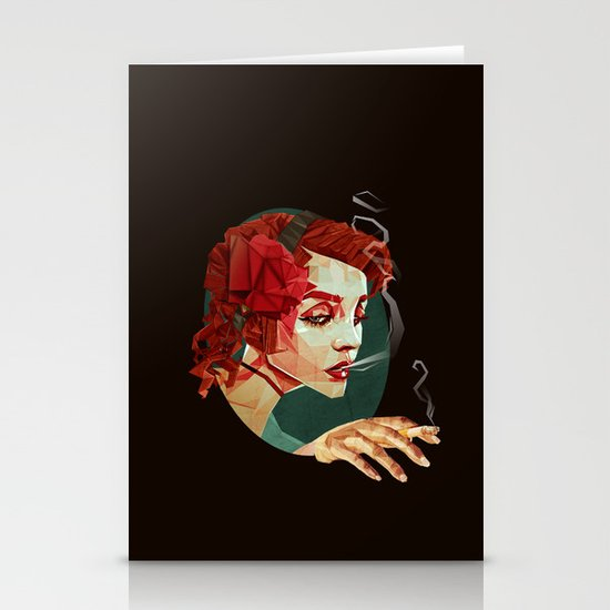 """Smoking Princess"" Stationery Card"
