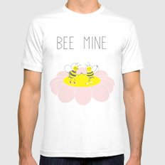 Bee Mine SMALL Mens Fitted Tee White