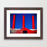 The Red Factory Framed Art Print
