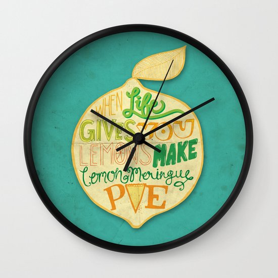 Lemon Meringue Pie Wall Clock