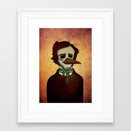 Prophets of Fiction - Edgar Allan Poe /The Raven Framed Art Print