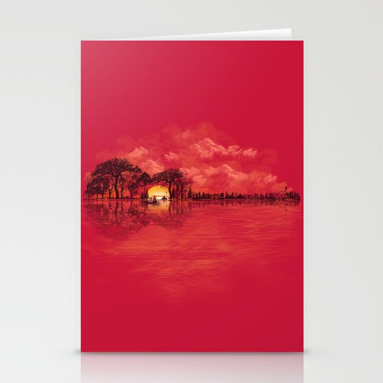 Musical Sunset Stationery Card