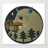 Home Is Where The Monste… Canvas Print