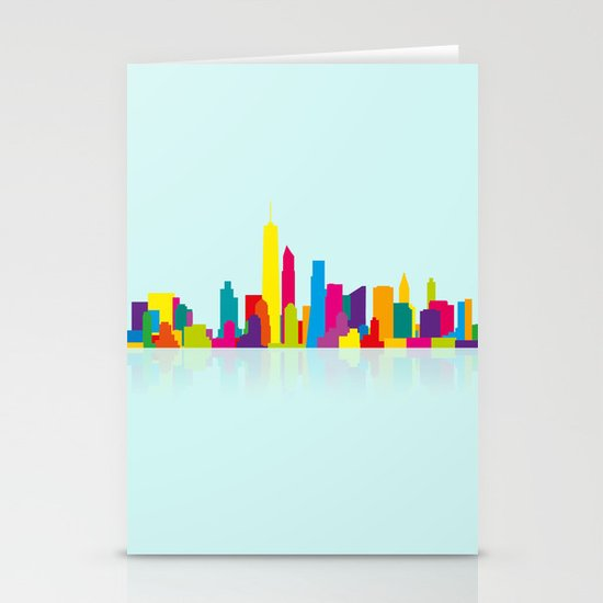 New WTC Skyline Stationery Card