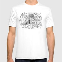 Grotesque Flora and Fauna Mens Fitted Tee White SMALL