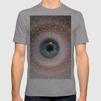 Spirographic Eye Geometr… Mens Fitted Tee Athletic Grey SMALL