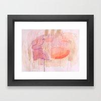 Low Key Pink Framed Art Print