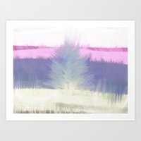 Winter With Tree And Gra… Art Print