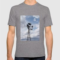 Left to the Elements...Abandoned Windmill Mens Fitted Tee Tri-Grey SMALL
