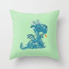 Crayon Dragon Throw Pillow