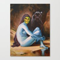Seated Sorcerer Canvas Print