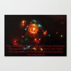 Christmas Typography Canvas Print