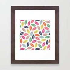 Bright Leaves Framed Art Print
